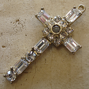 Octavia Stanhope Cross Pendant with Clear Swarovski Crystals