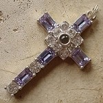 Grace Cross Pendant with Alexandrite Swarovski Crystal Rhinestones