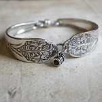 Silverware Bracelet with Stanhope Barrel Charm