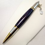 Purple Maple Diva Stanhope & Swarovski Charm Pen