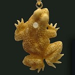 Carved Bone Frog Pendant Custom Photo Stanhope Peep