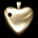 Brass Madelyn Heart with Stanhope