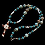 Crazy Agate Moonstone Jade and Bronzite Necklace Topaz Grace Stanhope Cross