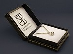 Sterling Silver Barrel Charm with Stanhope View