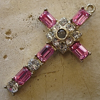 Octavia Stanhope Cross Pendant with Rose Swarovski Crystals