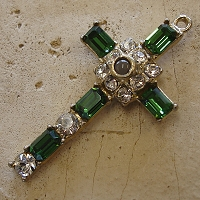 Octavia Stanhope Cross Pendant with Tourmaline Swarovski Crystals