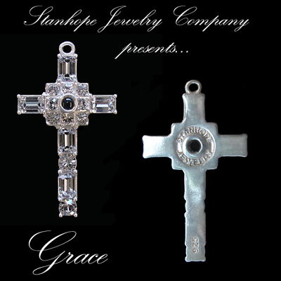 Grace Cross Pendant with Clear Swarovski Crystal Rhinestones