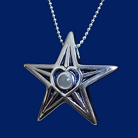 Blue Star Military Pendant for Mothers, Daughters, and Families