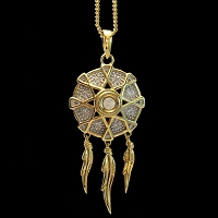 NEW! Dreamcatcher Stanhope Peep Pendant Necklace