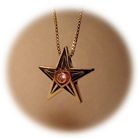 Gold Star Military Pendant for Mothers, Daughters, and Families