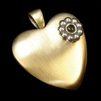 Brass & Sterling Silver Madelyn Heart with Stanhope