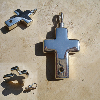 Sterling Silver Madelyn Cross with Stanhope Peep
