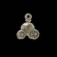 Sterling Silver Pumpkin Carriage Charm with Stanhope Peep