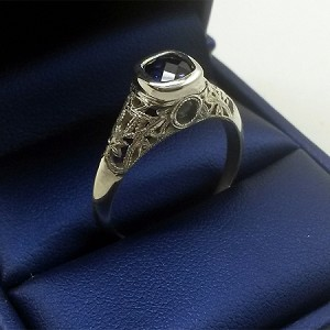 Stanhope Filigree Ring shown in Sterling Silver